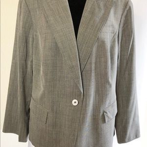 Lafayette 148 Blazer Wool Blend Lightweight Grey